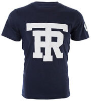TRUE RELIGION Mens T-Shirt UNIVERSITY OF TR Navy w Light Grey Jacquard $79 Jeans