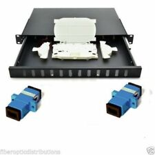 Fiber Optic  Patch Panel,12 Port Loaded  SC Simplex,Rackmount - 36718