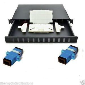 Fiber Optic  Patch Panel,12 Port Loaded  SC Simplex,Rackmount - 36718