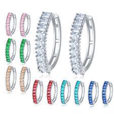 7pc 1 Lot Slim Design Multi Color Morganite Topaz Gems Women Dangle Hook Earring