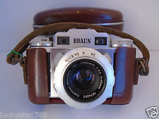 1950's Braun Super II Steinheeil Munchen Lens & Case # #268406 West Germany