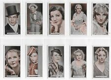 More details for ardath famous film stars complete set 50 cigarette cards in excellent condition