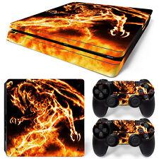 Sony PS4 Playstation 4 Slim Skin Aufkleber Schutzfolie Set - Dragon Motiv