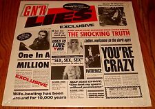 GUNS 'N ROSES G N' R LIES LP STILL IN THE SHRINK WITH HYPE STICKER 1986