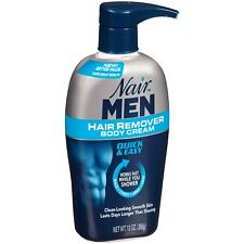 Nair for Men Hair Remover Body Cream for Back, Chest, Arms and Legs, 13oz