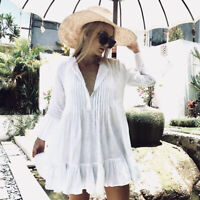 Fashion Women Bathing Suit Bikini Cover Up Swimwear Summer Casual Beach Dress