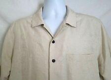 Havana Jack's Cafe Silk Men's Short Sleeve Hawaiian Shirt Size Medium Camp