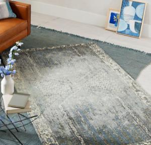 John Lewis DISTRESSED ENSI Blue Stone Rug 244cm x 305cm + FREE Rug Pad, RRP £999
