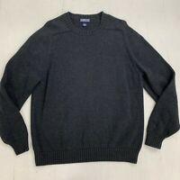 Vintage Lands End Sweater Mens Sz L 42 44 Heavy Knit Regular Fit Ribbed Pullover