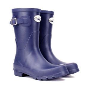 Rockfish Women's Short Matt Wellington Boots Black/Green/Purple/Navy 3-8