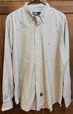 Polo Ralph Lauren Long Sleeve Button Front Shirt Made In Canada Men's XL Vintage