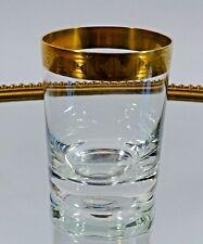 Becher Glas Whiskyglas Serie Athena Goldrand Ichendorfer Glashütte Ichendorf