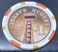 Jerry's Nugget - $1 Casino Gaming Chip - North Las Vegas Nevada - Paulson H&C