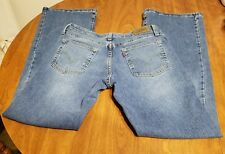 "Women's LEVIS 519 Flare Leg Juniors Size 9 M Medium Stretch Jeans 31"" Inseam"