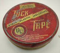 #43.  Vintage Tuck Vinyl Plastic Insulating Tape Tin Only.  Rare, #330