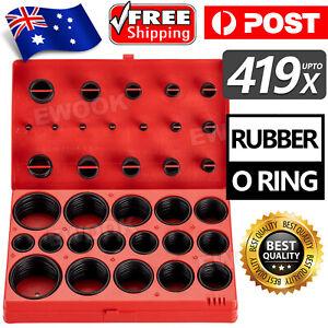 419 PCS Rubber O Ring Kit Metric Grommet Seal Plumbing Garage O-Ring Assortment