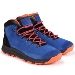 TIMBERLAND MEN'S WORLD HIKER BLUE ORANGE PADDED Ankle Shoes BOOTS A1RFR ALL SIZE