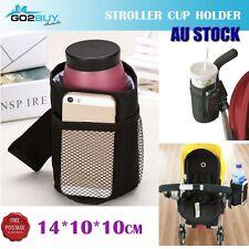 Baby Stroller Cup Holder Pocket Bag Milk Bottle Phone Pram Wheelchair Organiser
