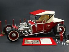 Monogram Big T Bucket Ford Model T Roadster 1:8 Scale Plastic Built 60s Car Kit