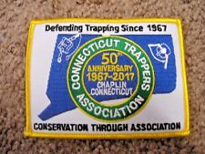 Connecticut Trappers Association 50th anniversary trapping patch