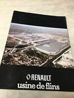 Renault Usine de Flins catalogue prospectus brochure dépliant magazine