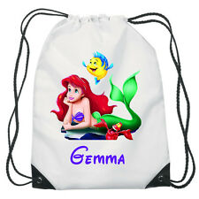 Little Mermaid Ariel Drawstring PE Bag Personalised Disney Princess