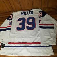 NEW Team USA Ryan Miller Hockey Jersey 3XL XXXL Fight Strap Sewn Nike 2010 # 39