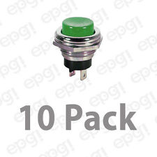 SPST (N/O) MOMENTARY ON GREEN PUSH BUTTON SWITCH 4AMPS @ 125VAC #66-2427-10PK