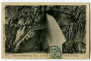 CPA 39 Jura Baume-les-Messieurs La Grande Cascade Entrée des Grottes
