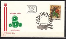 Austria, Scott cat. 1048. Bagpiper on Modern Art issue. First day cover.