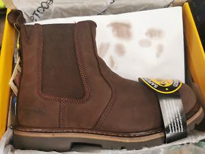 Buckler B1150SM Safety Dealer Boots Brown Leather - UK SIZE 13