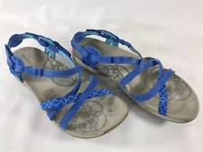 Merrell Jacardia Blue Buckle Strap Slingback Walking Sport Sandals Womens Sz 10