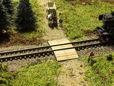 MU N-L00054 - Bahnübergang Holzbohlen - klein - Spur N - NEU