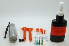 Paquet de Colle Légère 50g, Torche UV 12 LED, Buses pour Montage de mouches