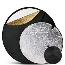 """5-in-1 110cm / 43"""" Studio flash Light diffuser Mulit Collapsible disc Reflector"""