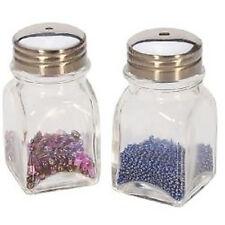 Bead Shaker Holder Glass 2 Bottle Set Seed Beads