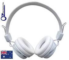 White Wireless 3.5mm Bluetooth Stereo Headphones Iphone 5 6 Samsung Galaxy NEW