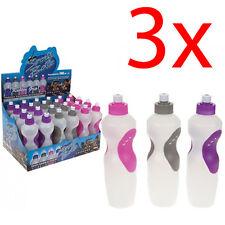 3 X Botella de deportes Super Grip HIDRATACIÓN AGUA CICLISMO SENDERISMO Bpa Libre Fitness Nuevo