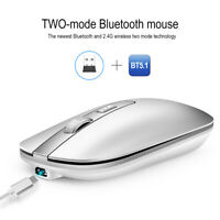 M50 Bluetooth 5.1 + 2.4G Rechargeable Wireless Mouse Metal Wheel Mute Mouse