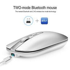 M50 Bluetooth 5.1 + Mouse Inalámbrico Recargable 2.4G Mouse Mute rueda de metal