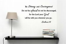 BE STRONG AND COURAGEOUS Joshua 1:9 religious wall quotessayings vinyl decaL