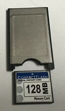 COMPACTFLASH MEMORY CARD 128mb + COMPACT FLASH TO PCMCIA PC CARD READER ADAPTER