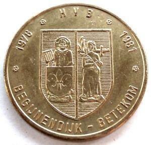 BELGIUM BEGIJNENDIJK BETEKOM 50 DIJKENAAR 1981 UNC 30mm 12g Brass, MM12.2