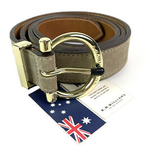 RM Williams Womens Suede Cowhide Leather Hip Belt Size 38 Made In Australia