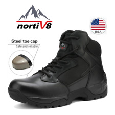 NORTIV 8 Mens Work Safety Shoes Steel Toe Indestructible Military Tactical Boots