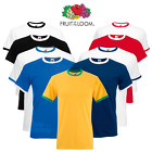 Fruit Of The Loom MEN'S RINGER T-SHIRT CONTRAST TWO TONE SHORT SLEEVE NECK S-2XL