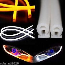 Dual Color Switchback Headlight Soft Tube LED Daytime/Turning Light Guide Strip