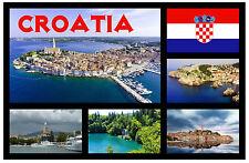 CROATIA - SOUVENIR NOVELTY FRIDGE MAGNET - BRAND NEW - GIFTS - SIGHTS / FLAGS