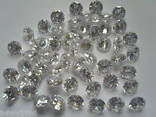 10mm white cubic zirconia loose stones round cut £1.20p each stone.