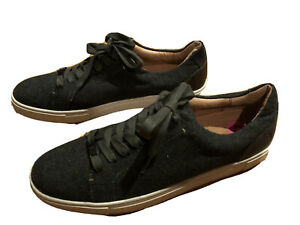 FRYE Women's IVY Fashion Sneaker, Dark Olive Wool, Size 11M Leather Lining NWT